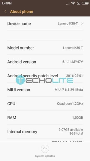 MIUI 7 Lollipop Custom Rom